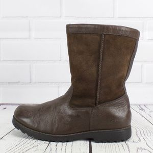 UGG Australia Brown Leather Boots Size 6